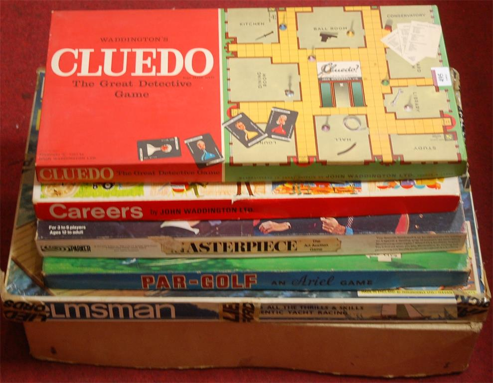 A collection of assorted children's toys and games to include Waddington's Cluedo