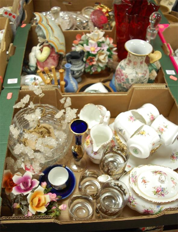 Two boxes of miscellaneous china