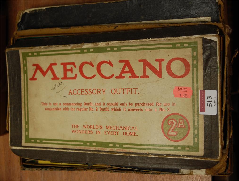 A boxed Meccano accessory outfit No. 2A (a/f)