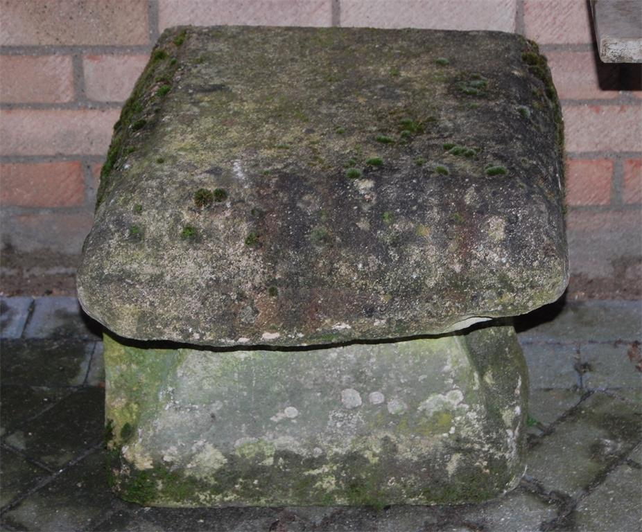 A low Derbyshire staddle-stone