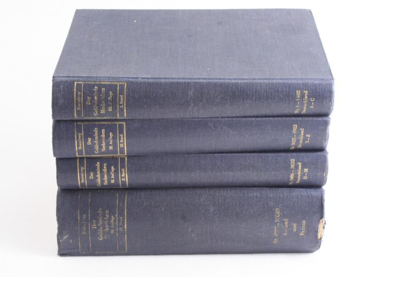 Rosenberg, M: Der Goldschmiede Merkzeichen in four volumes 1922, 1923, 1925 & 1928 94)
