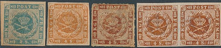 1854. 2 Sk. blue