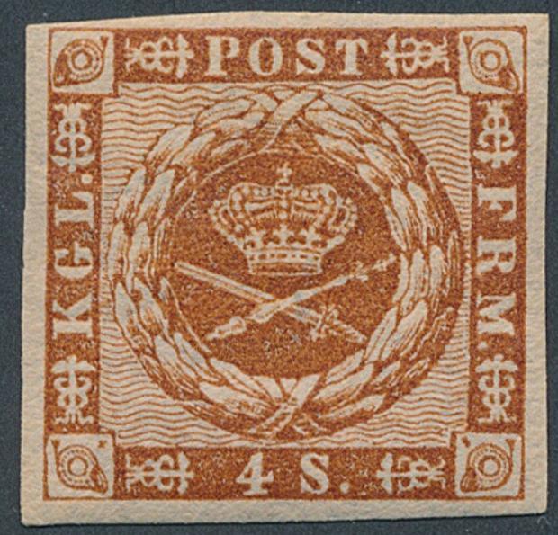 1858. 4 sk. brown