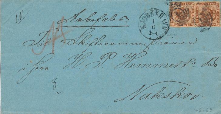 1863. 4 sk. Brown