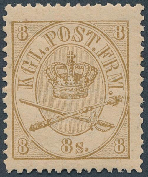 1864. 8 sk. Yellow brown
