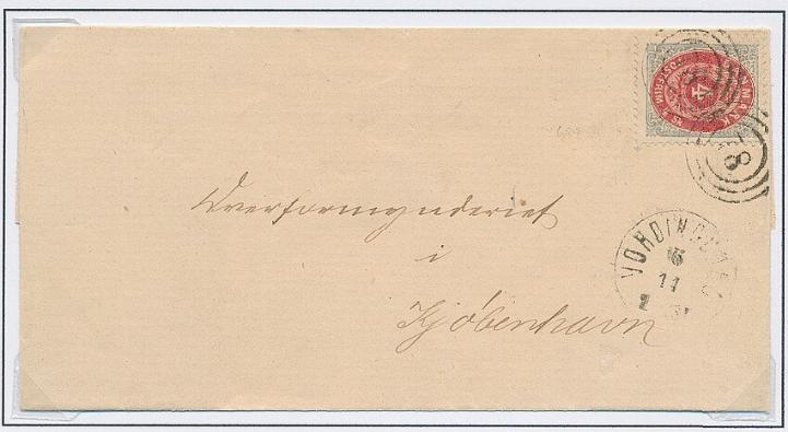 1870. 4 sk. 9.print, pos. A39 Inverted frame. Very fine cover