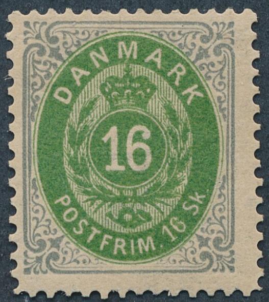 1871. 16 sk. Very beautiful unused copy