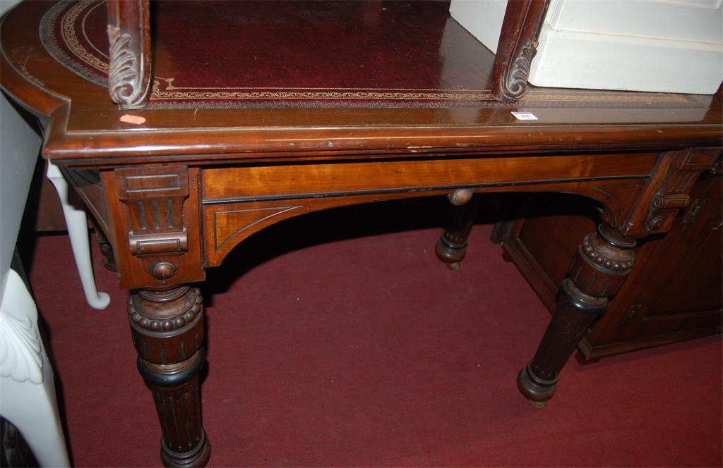 A late Victorian walnut