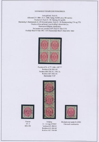 1875. 8 øre, aniline