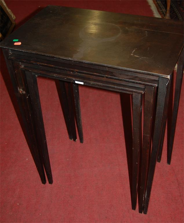 A beech nest of three occasional tables