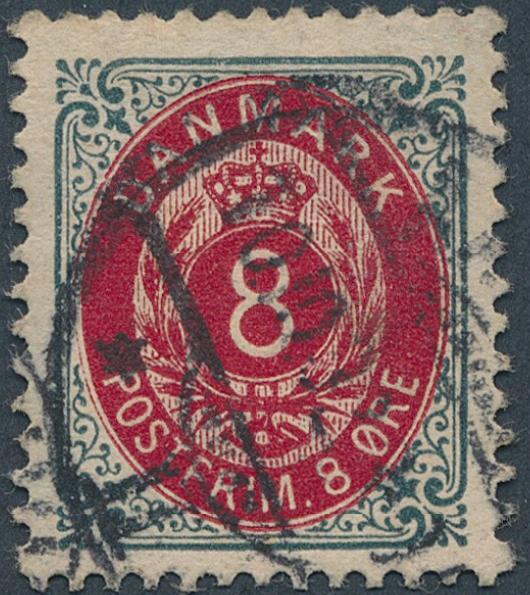 1902. 8 øre, 121.print, wmk.III