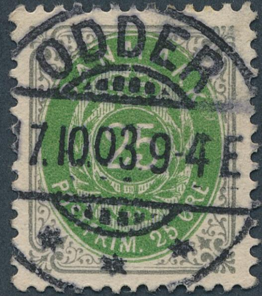 1903. 25 øre, grey/green, wmk.III