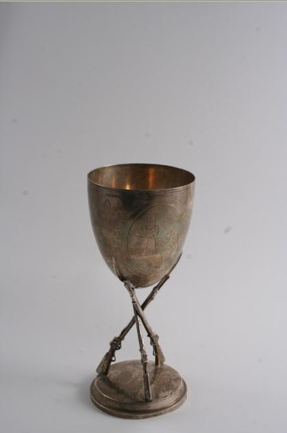 A VICTORIAN MILITARY SHOOTING PRIZE GOBLET