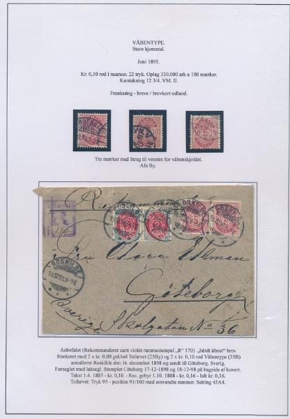 1895. 10 øre, red