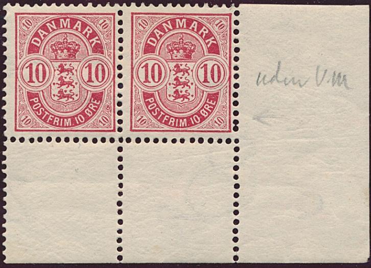 1902. 10 øre, red