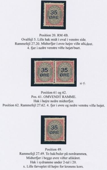 1912. Overprint. 35/20 øre, red/grey