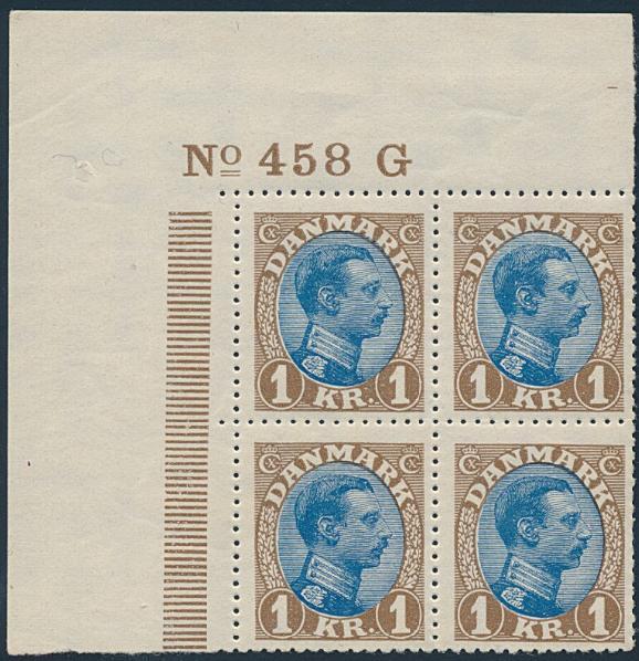 1921. Chr. X. 1 Kr. Brown/blue. Tp. II