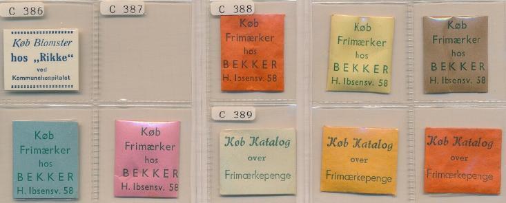 FRIMÆRKEPENGE. Køb Blomster hos Rikke. Købe Frimærker hos Bekker og Køb Katalog over Frimærkepenge. 9 forsk. Ex. Arne Andreasen