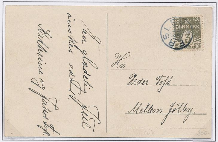 ERSLEV. Star-canc. on fine cover