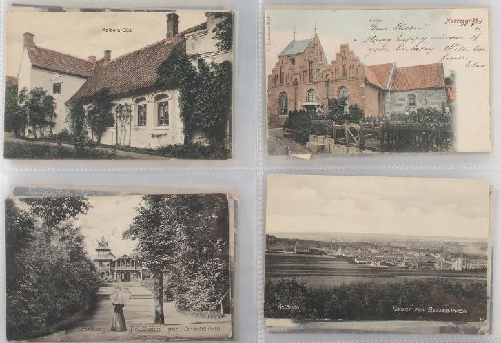 Postcards. 2 binders with approx. 470 cards from norths jutland. Please se scan's