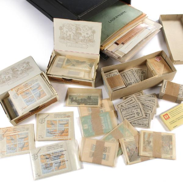 Denmark and Norway. Box with booklets and others