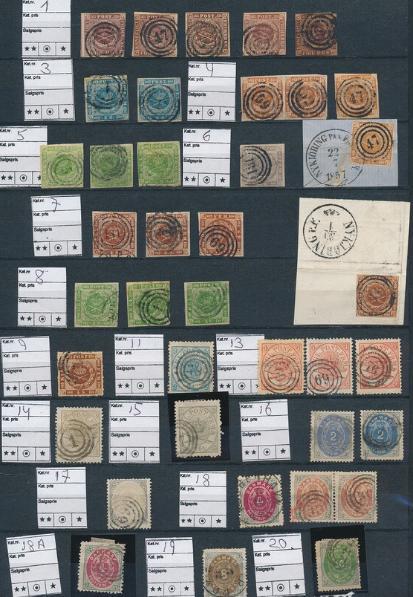 Denmark. 1851-1870. Stockcard