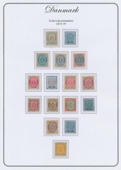 Denmark. 1875-1930. Unused/nh collection