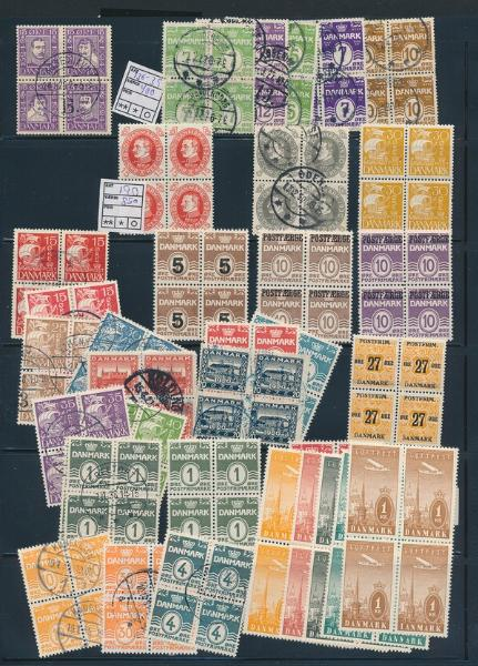 Denmark. Coll. BLOCKS OF FOUR in 2 albums