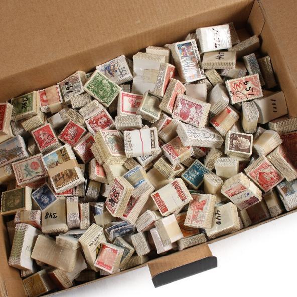 Denmark. BUNDLES. Box with ca. 459 older bundles. AFA ca. 93.000