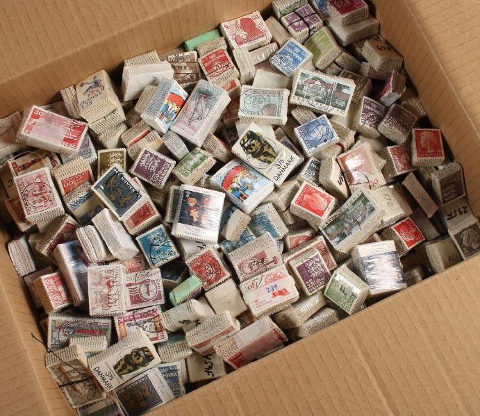 Denmark. BUNDLES. Box with ca. 468 older bundles. AFA ca. 94.800