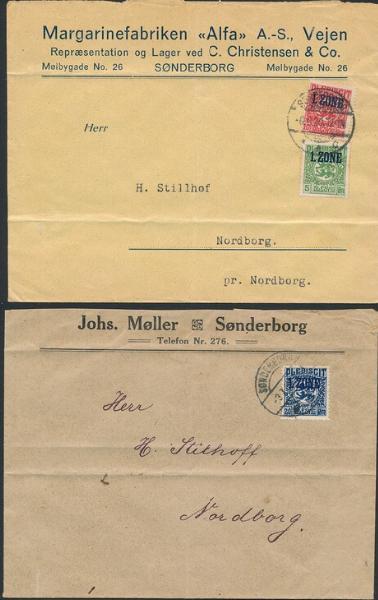 Slesvig. 1920. 5 covers