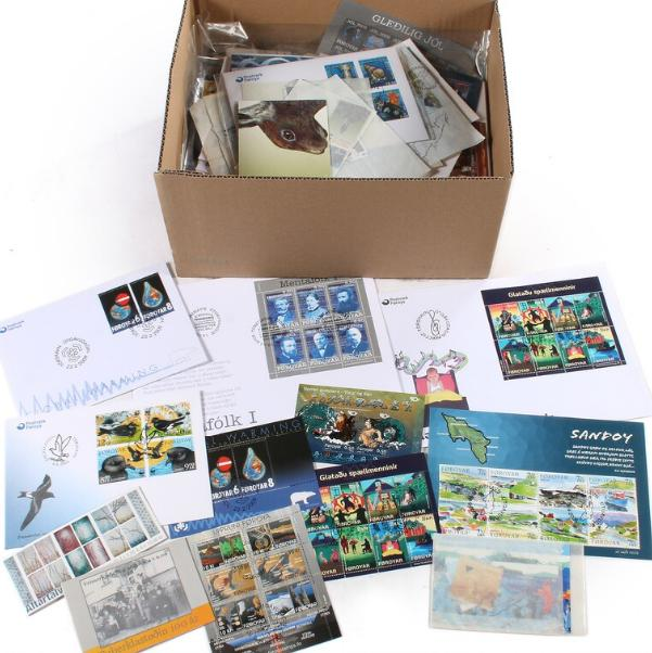 Faroe Islands. Box filled with mostly newer material in NH, used and on FDC, up to 2009.