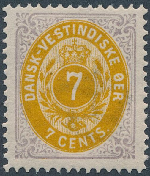 1874. 7 cents, purple/yellow. 1.printing. Perfect NH copy in very fresh quality. AFA 1500+