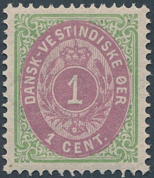 1876. 1 cent, green/purple. 2.printing. Perfect NH copy. LUXUS. AFA 2500
