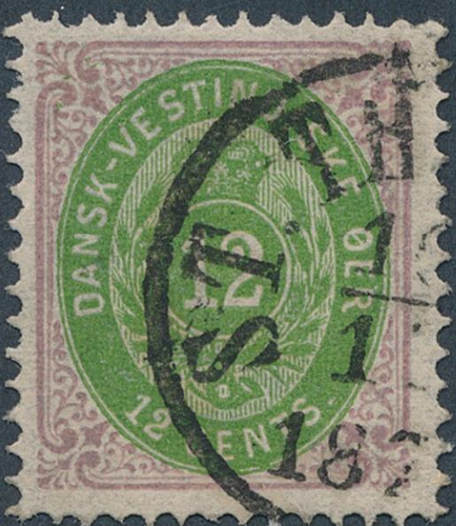 1878. 12 cents, purple/green, 2.printing. Very fine used copy. AFA 1500. Cert. Nielsen
