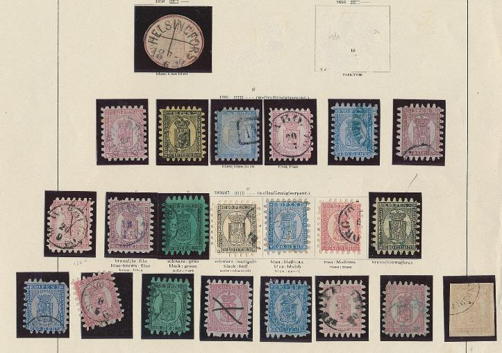 Finland. Old collection with many Rouletted issues etc