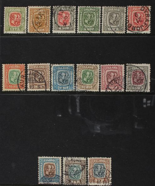 1907. Two Kings. Complete set in very fine used condition. Facit 4t500