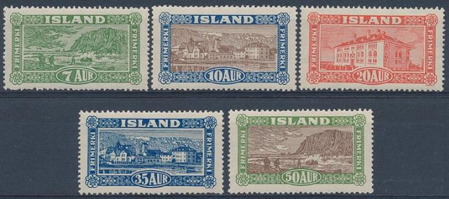 1925. Landscabes. 7-50 aur. Nh set. Facit: 6000