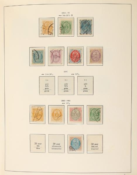 Iceland. 1873-1990. Well-filled collection in a Stender-album.