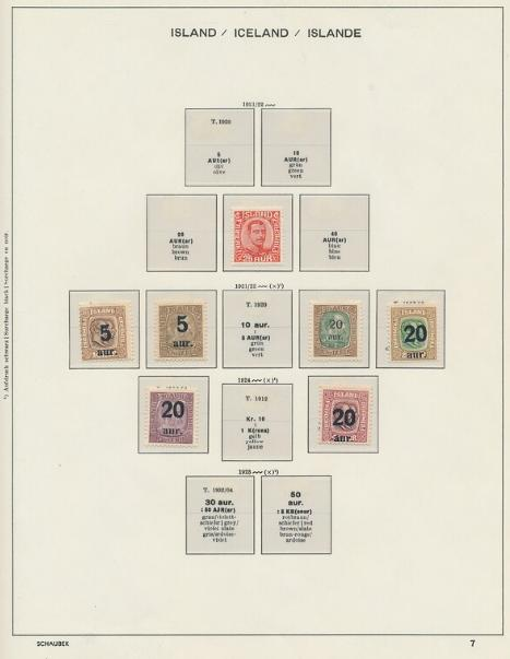 Iceland. 1900-1997. Collection in a Schaubek-album