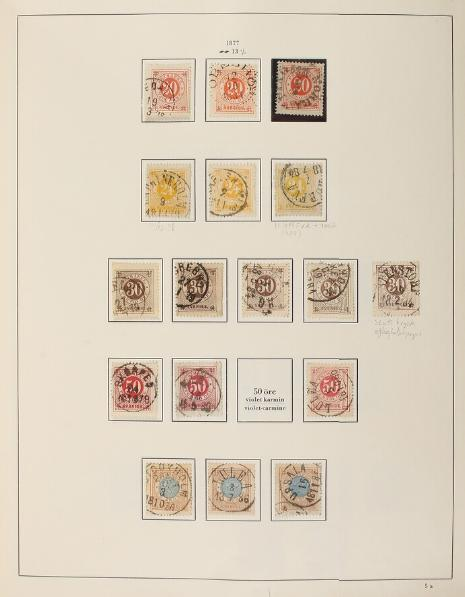 Sweden. 1855-1984. Collection in a Stender-album