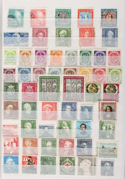 Bund. 1949-2004. Used collection in 2 large stockbooks