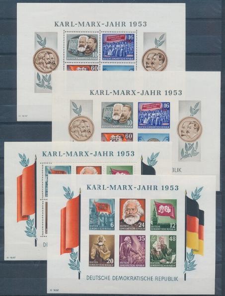 DDR. 1953. Karl-Marx. Set nh blocks. Michel: EURO 360