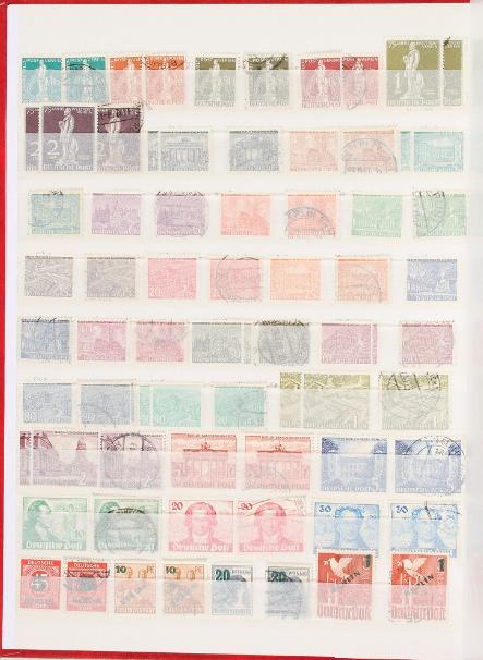 Berlin. 1948-1990. Double collection (used + unused/nh) in a stockbook