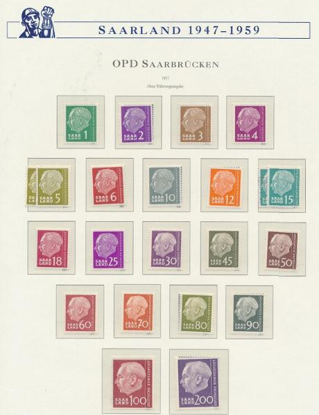 Saarland. 1947-1959. Well-filled collection