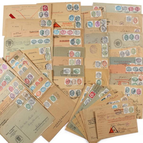 Germany. 67 official covers from 1920-1930es. Much diff. frankings