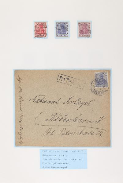 German Reich. 1900-1923. Special-collection