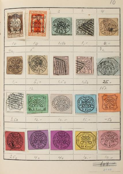 Italy with states and areox. Album with 20 pages