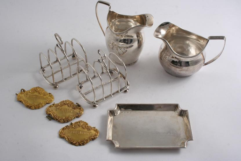 Two small late Victorian toast racks by Hunt & Roskell, London 1878/79