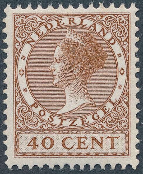 Holland. 1924. Wilhelmina. 40 c. brown. Nh. AFA: 1600